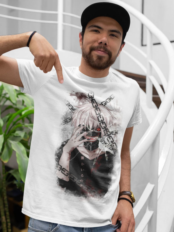 camiseta cadenas tokyo ghoul