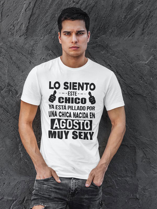 camiseta con frases graciosas agosto