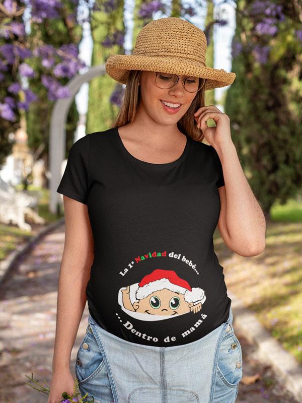 camiseta dentro de mama en color negro