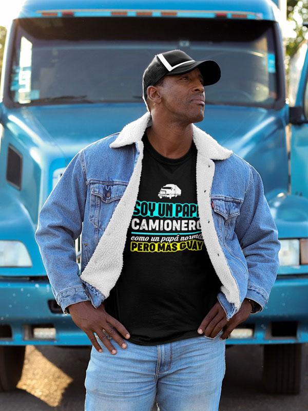 camiseta dia del padre papa camionero