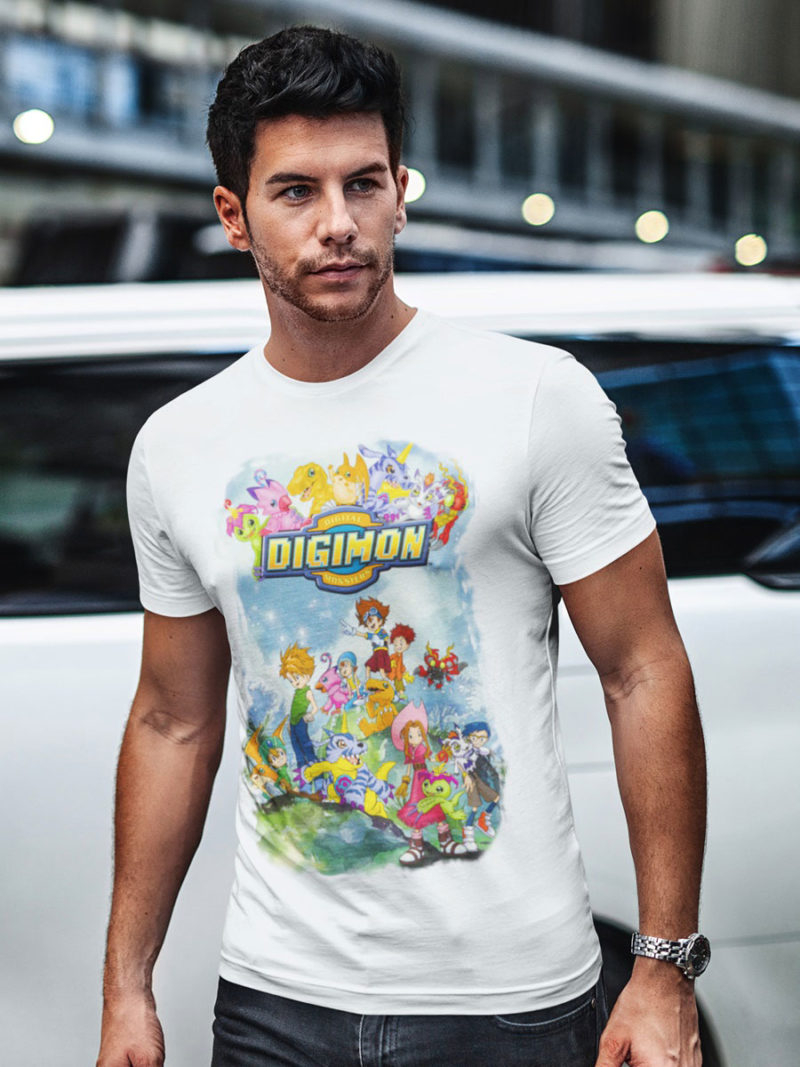 camiseta digimon blanca
