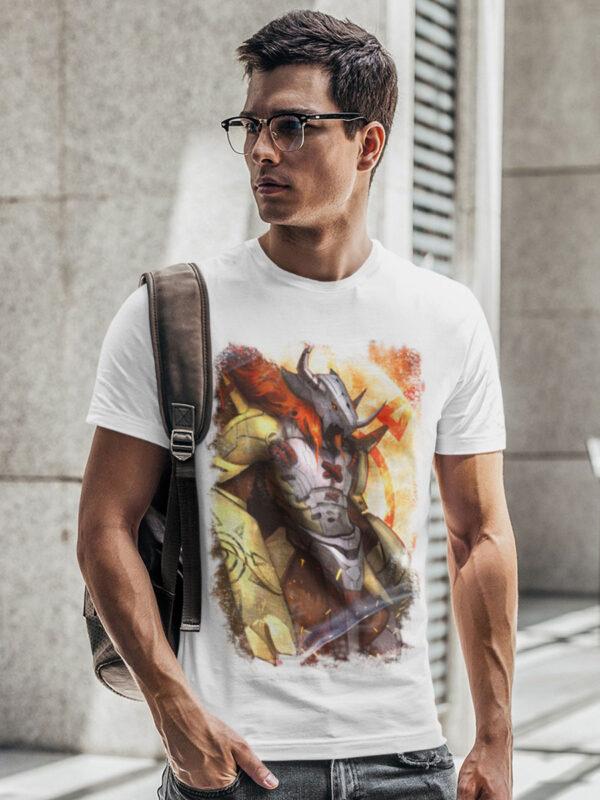 Camiseta Digimon ultradigievolución blanca