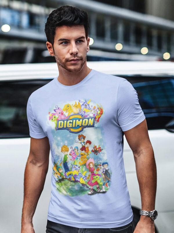 camiseta digimon celeste