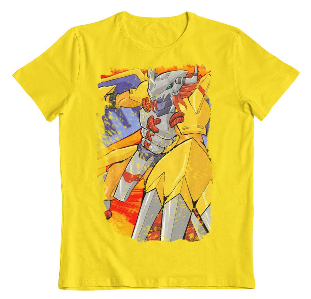 Camiseta Digimon Wargreymon attack amarillo