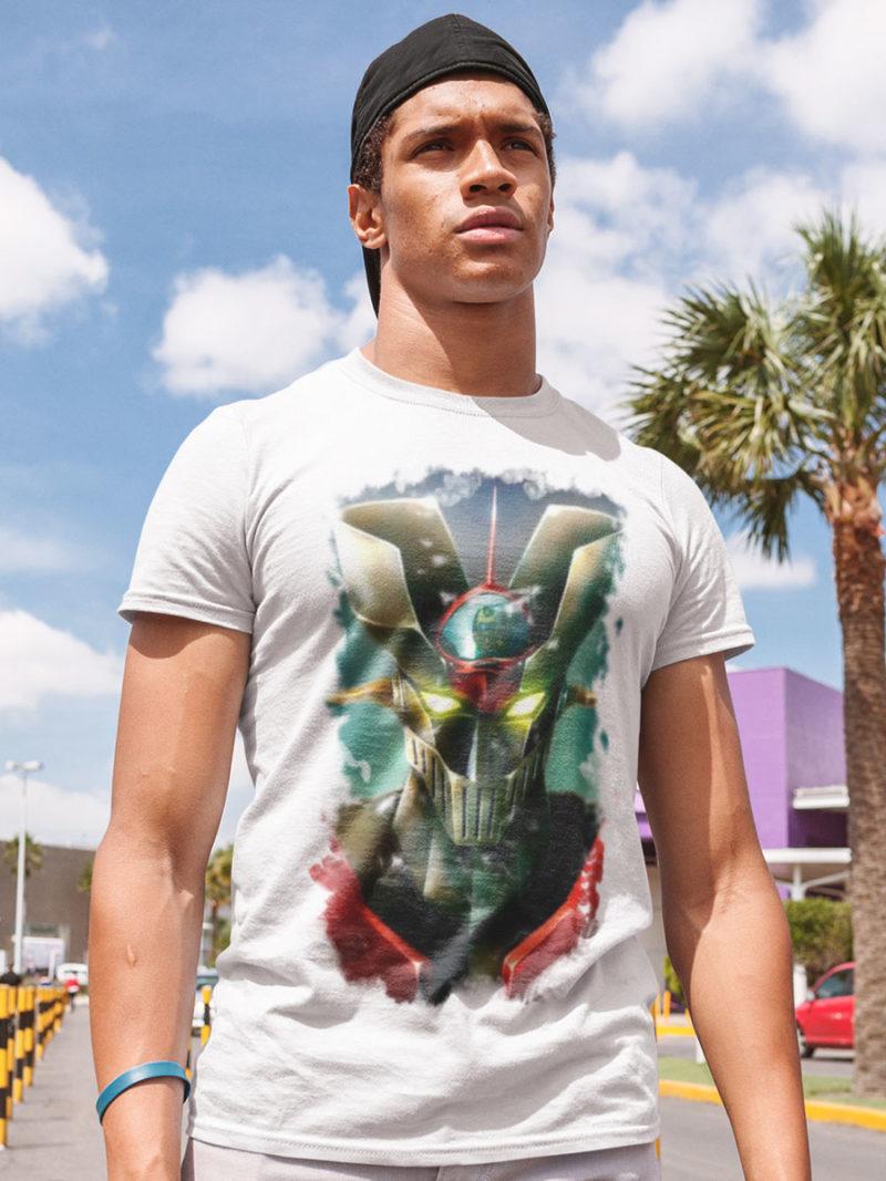 camiseta mazinger z difuminado