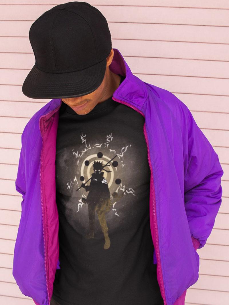 Camiseta Naruto entre sombras