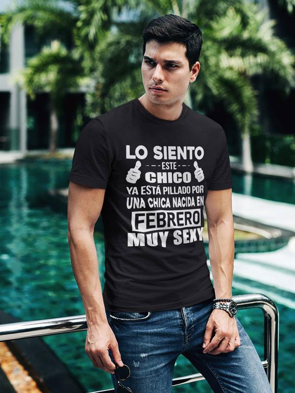 camiseta negra con frases graciosas febrero