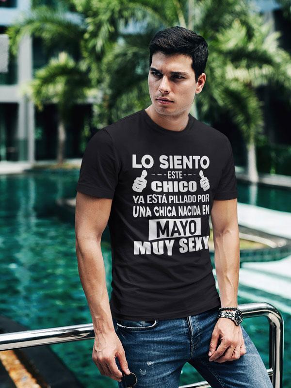 camiseta negra con frases graciosas mayo