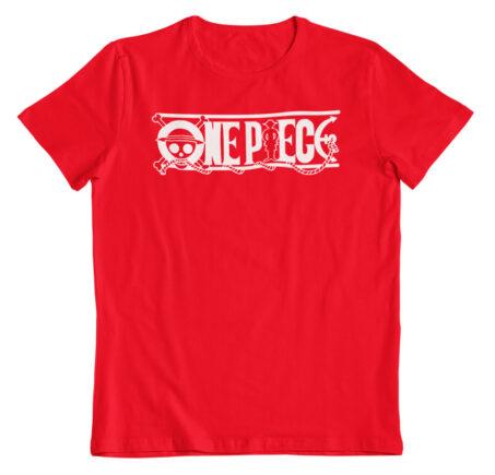 Camiseta One Piece logo roja