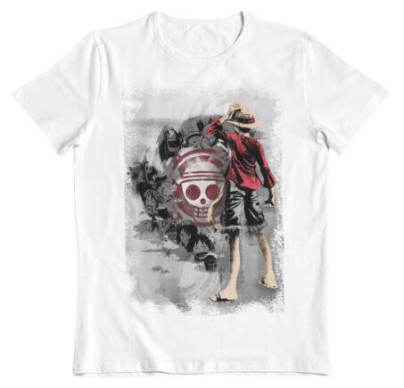 Camiseta One Piece style pincel
