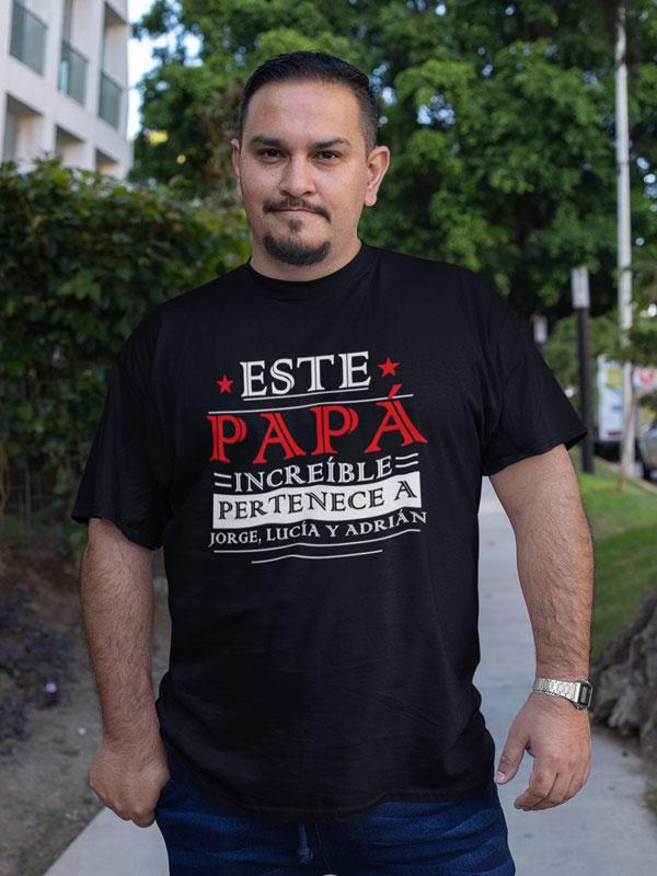 camiseta personalizada dia del padre este papa pertenece a