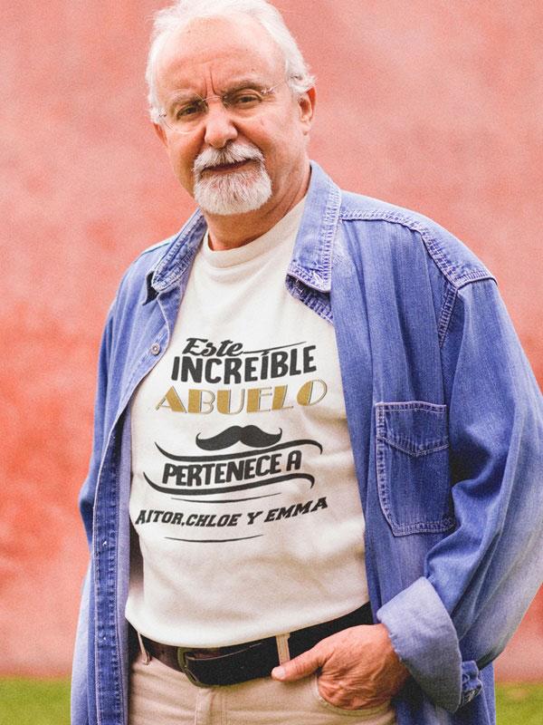 camiseta personalizada para abuelo color blanco
