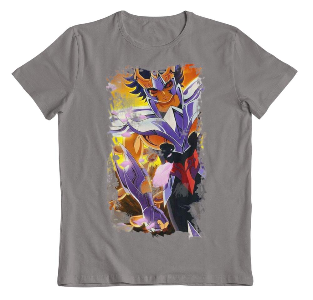 Camiseta Saint Seiya Ikki de Phoenix gris