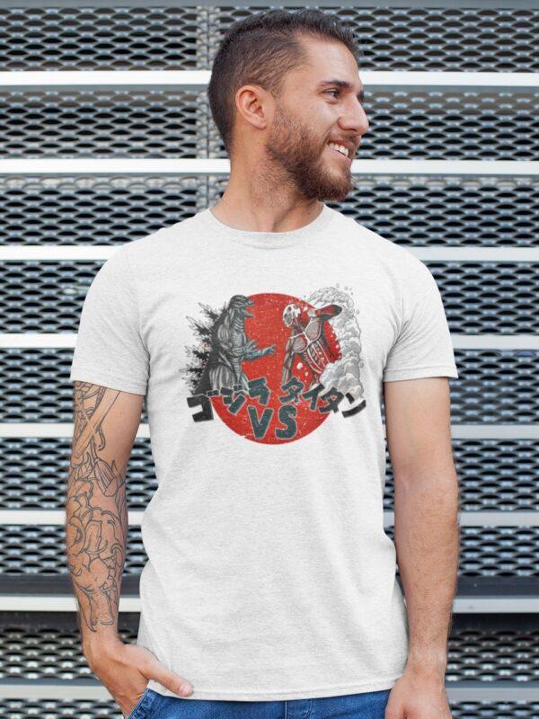 Camiseta Titan VS Godzilla