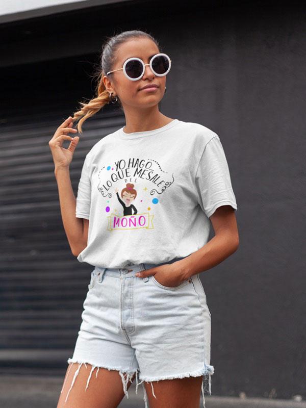 camisetas mujer divertidas blanca