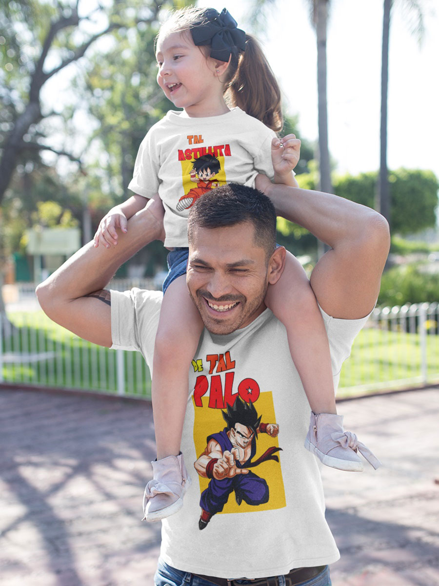 Kit camisetas padre e hija dragon ball Gohan y Pan