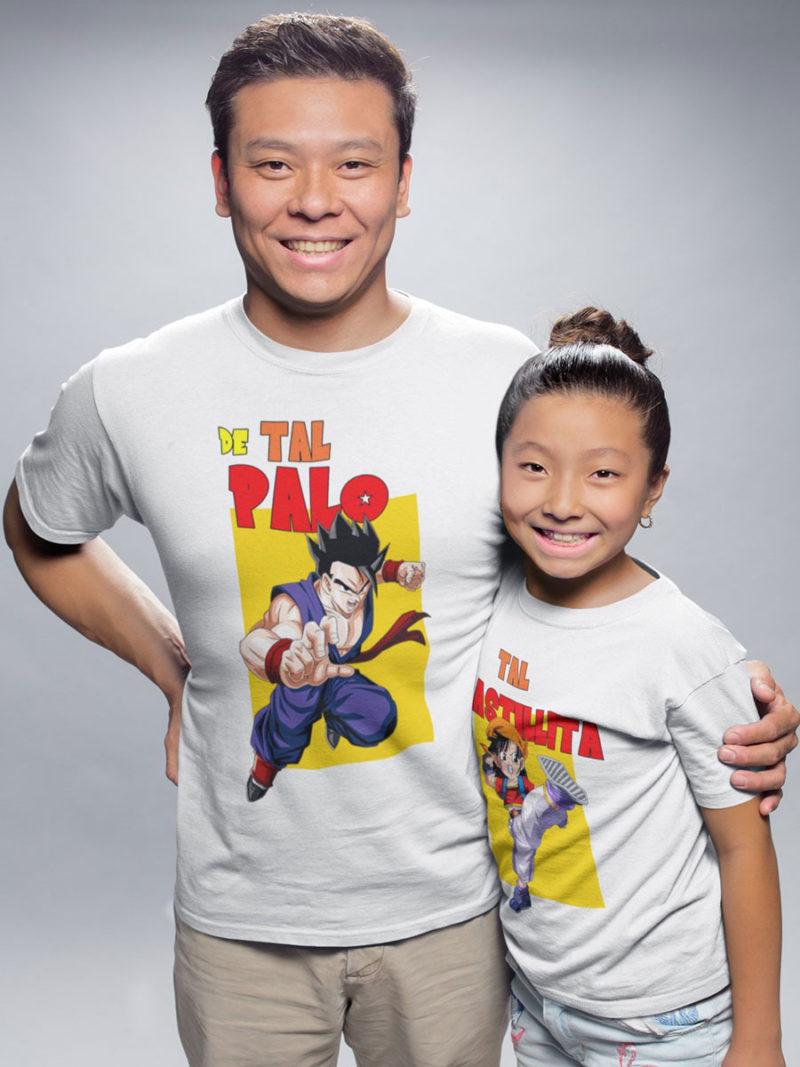 Kit camisetas padre e hija Gohan y Pan de dragon ball