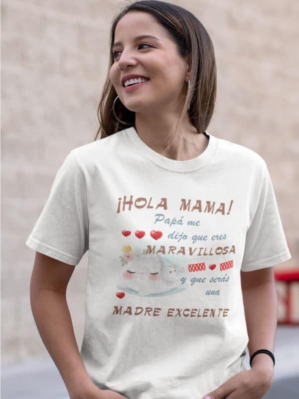 camiseta del dia de la madre hola mama