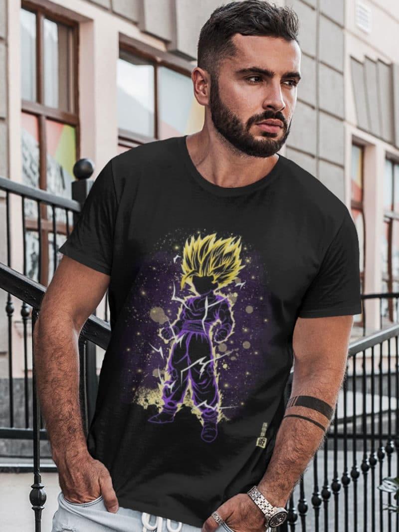 camiseta dragon ball gohan furioso
