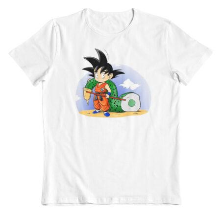 camiseta dragon ball goku y su trofeo