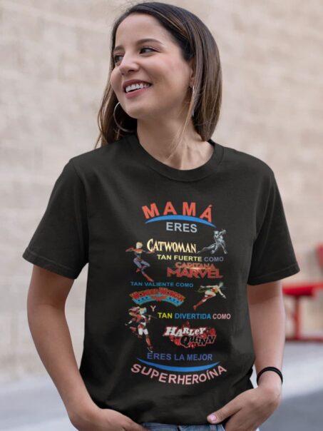 camiseta negra dia de la madre heroinas