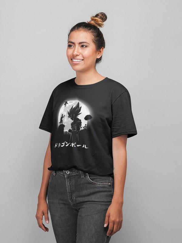 camiseta el super saiyan legendario negra
