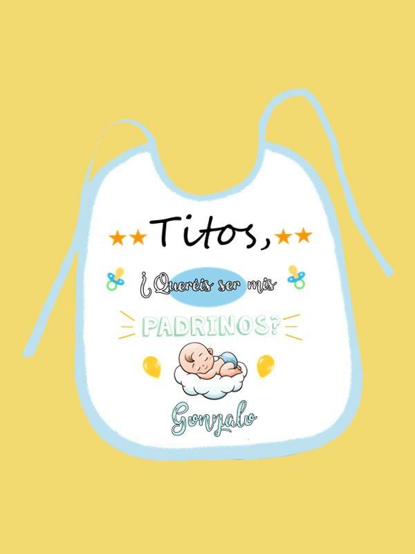 babero de padrinos bebe