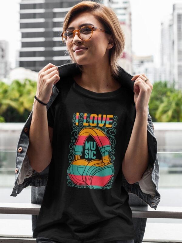 camiseta i love music
