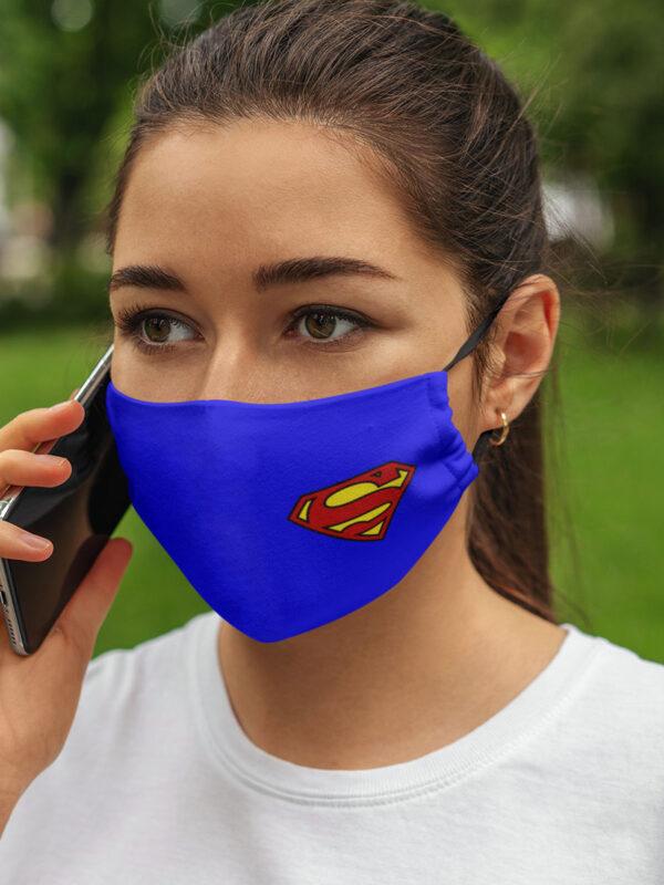 mascarilla de superman dc comic