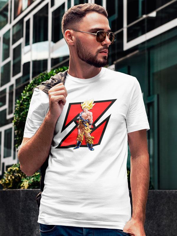 Camiseta Dragon Ball Goku Guerrero Z Blanco