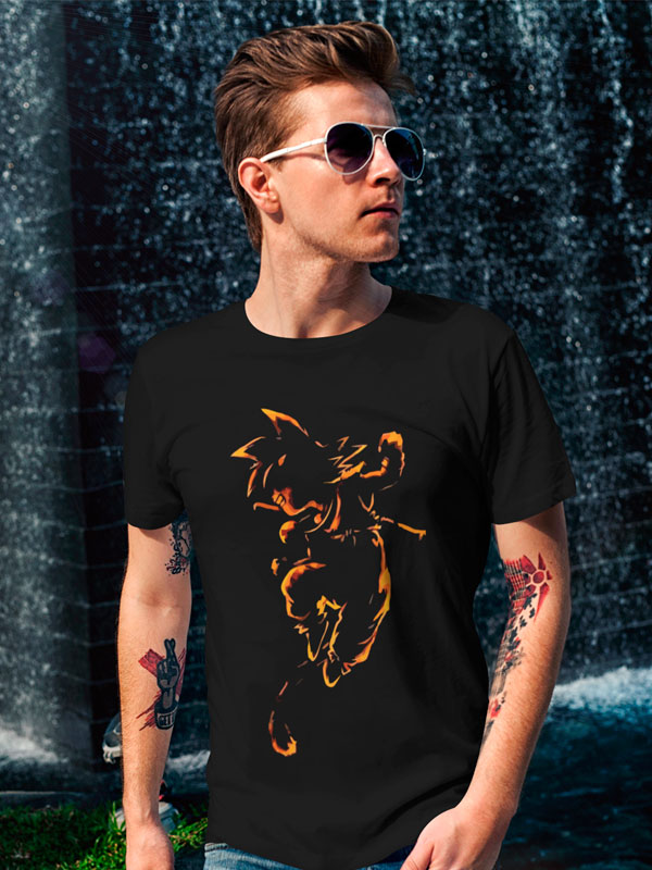 camiseta dragon ball goku orange