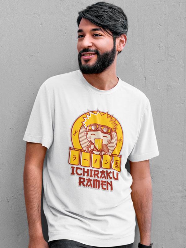 Camiseta Ichiraku Ramen Blanca