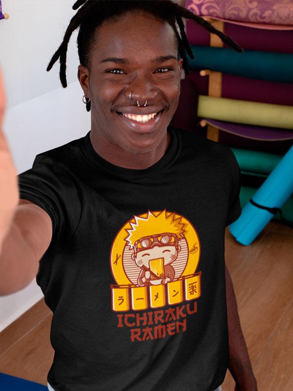 Camiseta Ichiraku Ramen Negra