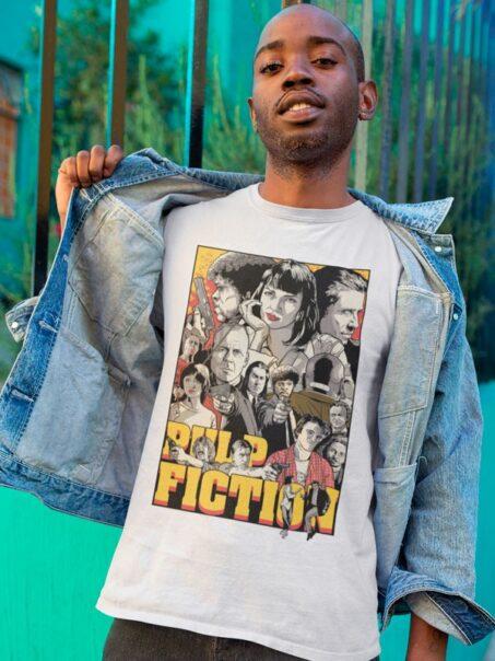 Camiseta Pulp Fiction Estilo Vector