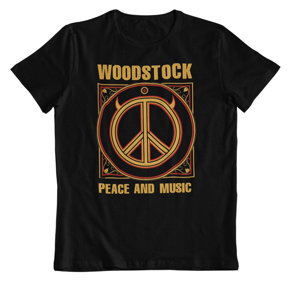 camiseta Woodstock Peace and music