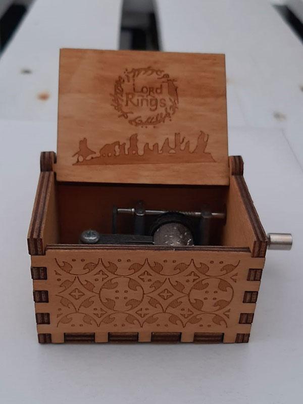 caja musical de el señor de los anillos