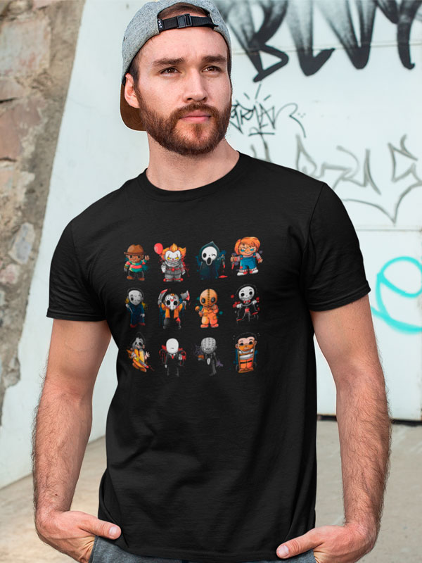camiseta muñecos de terror