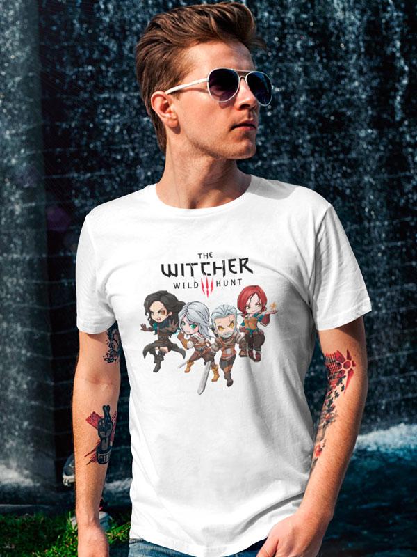camiseta the witcher 3 blanco
