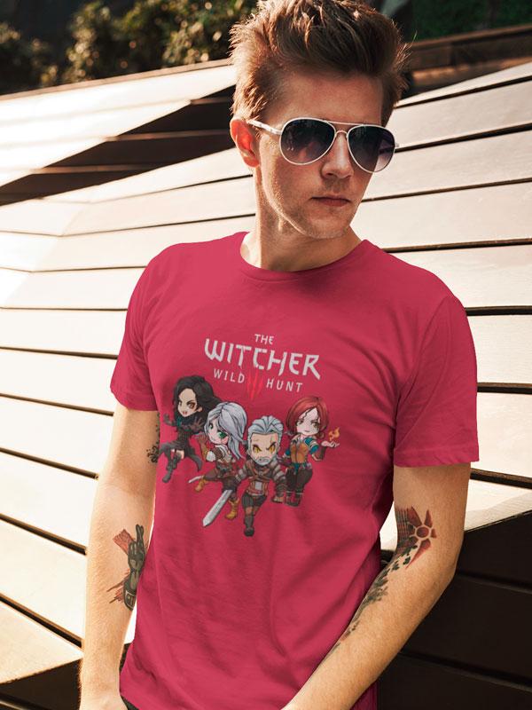 camiseta the witcher 3 granate