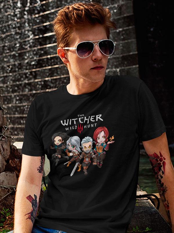 camiseta the witcher 3 negro