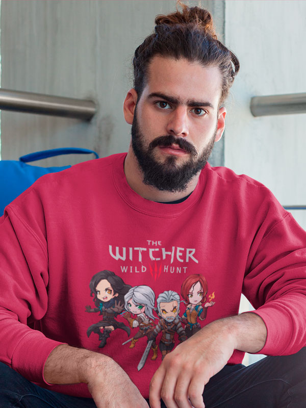 sudadera the witcher 3 granate