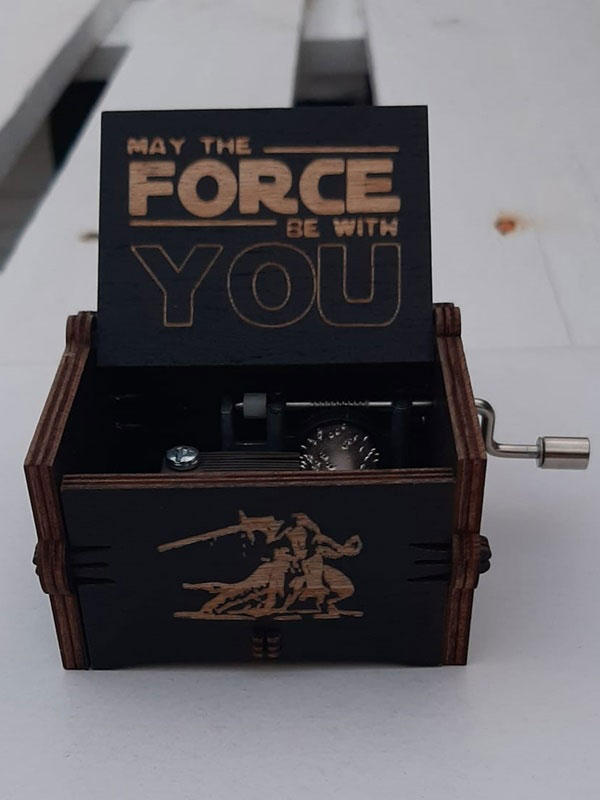 caja musical de star wars