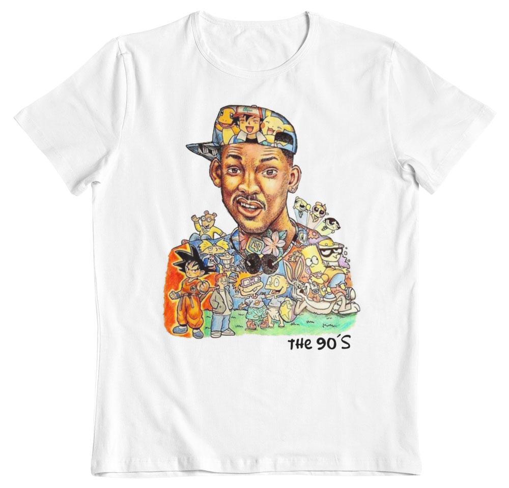 Camiseta rememorando los años 90