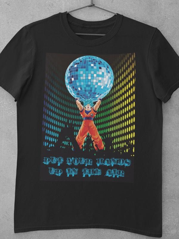 camiseta goku dragon ball genkidama