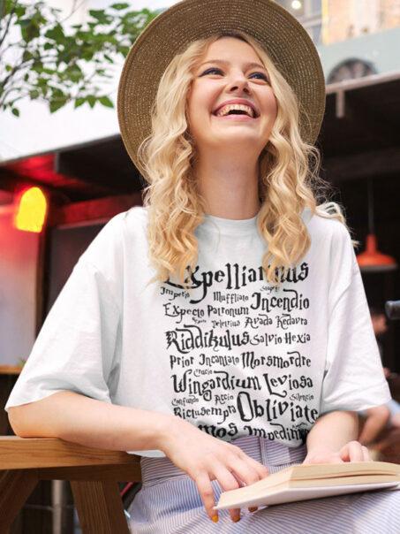 camiseta harry potter conjuros