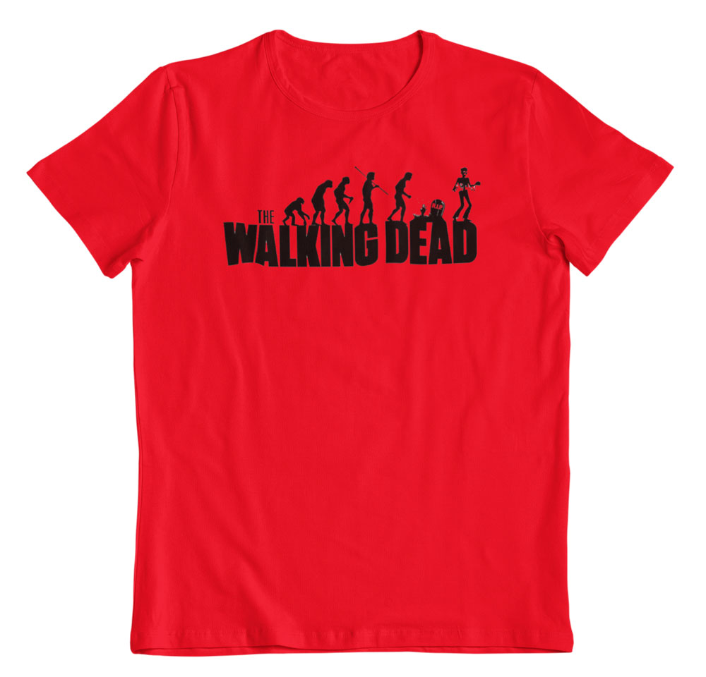 Camiseta The Walking dead roja