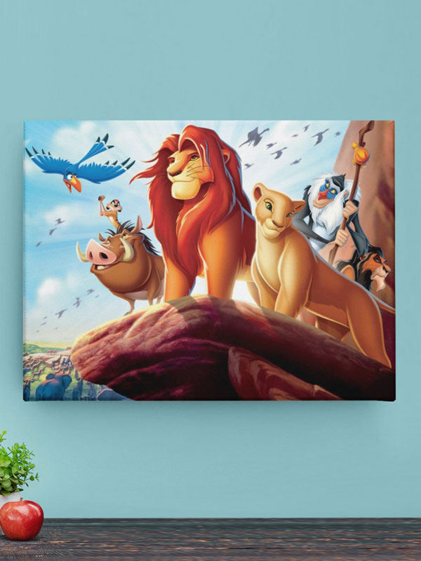 lienzo el rey leon