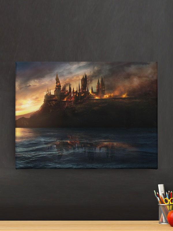 lienzo harry potter castillo de hogwarts