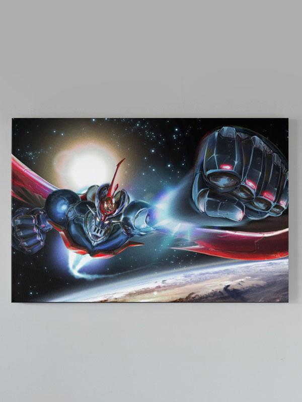 lienzo mazinger z por el espacio