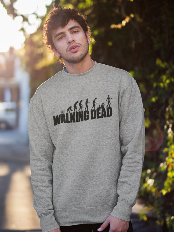 sudadera gris the walking dead